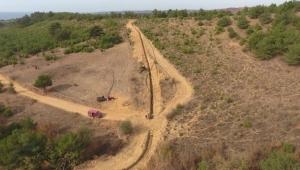 Çokal Barajı içme suyu isale hattında sona doğru