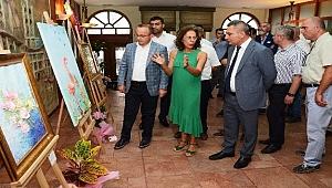 Turan, 'Heykel resimler' sergisinin açılışını yaptı