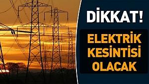 5 Ocak Cuma günü elektrik kesinti
