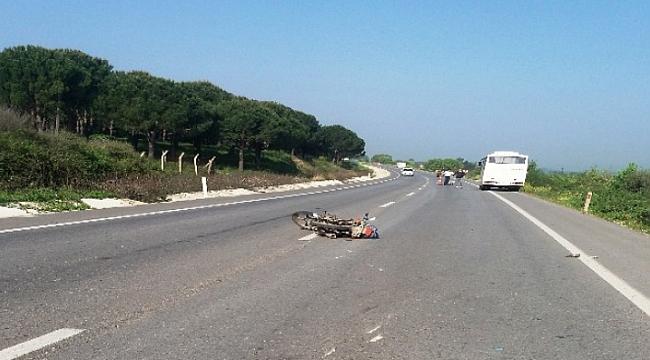 Çanakkale'de trafik kazası 1 yaralı