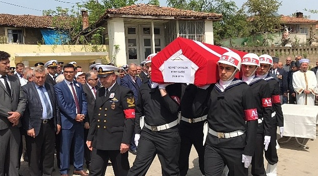 Kore gazisi Çanakkale'de toprağa verildi