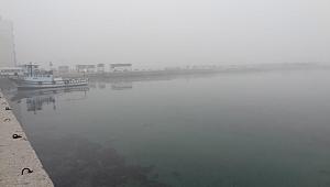 Çanakkale Boğazı'nda yoğun sis deniz ulaşımını olumsuz etkiliyor.