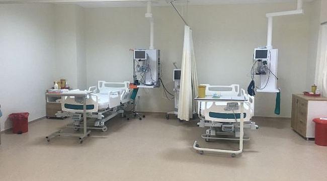 Biga Devlet Hastanesinde yoğun bakım yatak sayısı arttırıldı