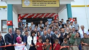 Biga Anadolu İmam Hatip Lisesi Fen ve Sosyal Bilimler Proje Okulu Törenle Açıldı