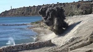 Çanakkale'de top mermisi imha edildi