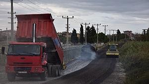 Lapseki'de 50 bin metrekare alanda cadde ve sokaklar asfaltlanıyor