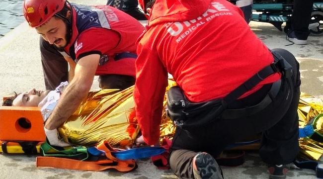 Çanakkale'de uçak kazası tatbikatı