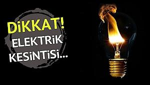 Dikkat! Çanakkale'de Elektrik Kesintisi