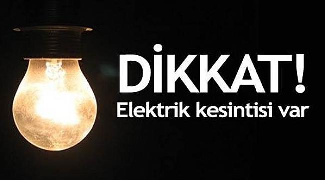 Dikkat Elektrik Kesintisi! 5 KASIM-2018
