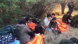 Çanakkale'de Yasa Dışı Yollarla Midilli Adası'na Geçme Hazırlığındaki 21 Düzensiz Göçmen Yakalandı