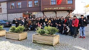 ÇOMÜ TÖMER öğrencilerinden Mehmet Akif Ersoy Müze Evi'ne ziyaret
