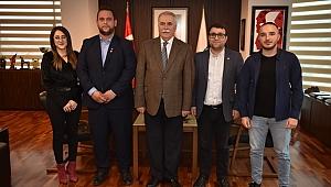 Gençlerden Başkan Gökhan'a Teşekkür Ziyareti
