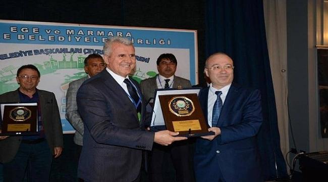 Karabiga Belediye Başkanı Karataş'a Yılın Çevre Dostu ödülü