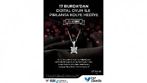 AVM'den Sevgililer Günü'nde pırlanta kolye hediye
