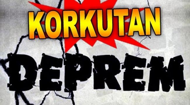 Çanakkale'de 5.0 büyüklüğünde Deprem