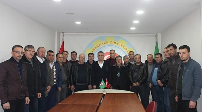 Çanakkale Ziraat Odası'nda 2 Şubat'ta yapılan kongreden sonra ilk Yönetim Kurulu ve Meclis Toplantısı gerçekleşti.
