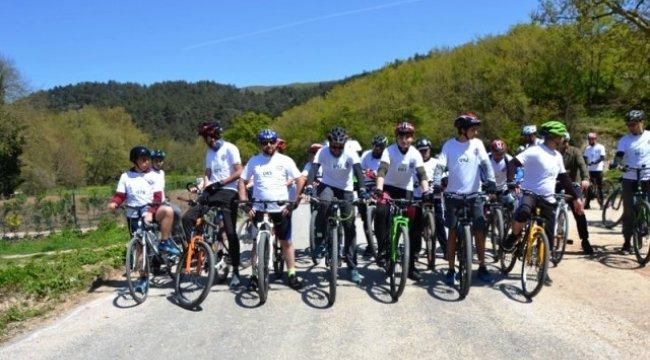Biga'da Bisiklet Yarışı Yapıldı