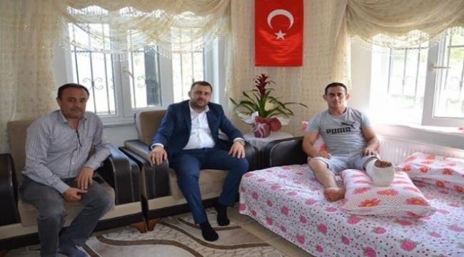 Başkan Yüksel operasyonda yaralanan askeri ziyaret etti