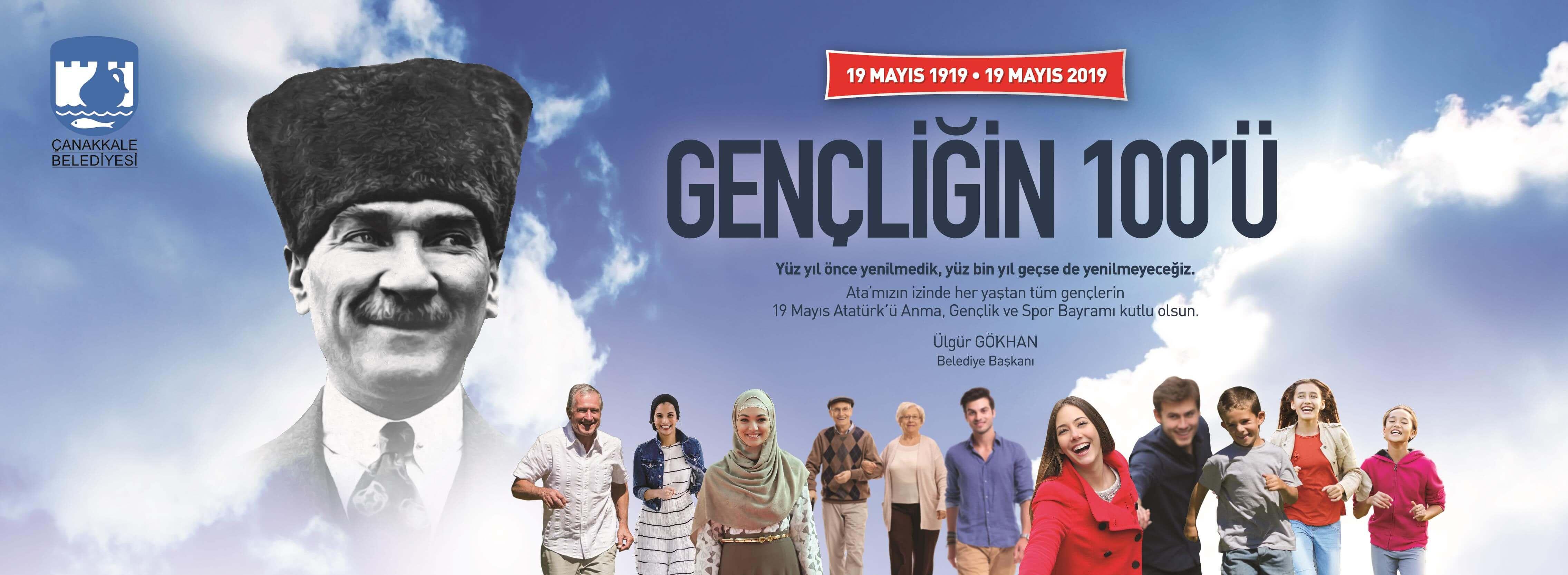 Belediye Başkanı Ülgür Gökhan'ın 19 Mayıs Atatürk'ü Anma, Gençlik ve Spor Bayramı Mesajı...