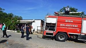 Biga'da ev yangını