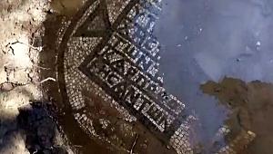 Çanakkale'de kaçak kazıda mozaik bulundu