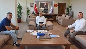 Geyikli Belediye Başkanı Oruçoğlu'dan Rektör Murat'a ziyaret