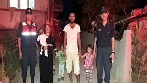 Kayıp çocukları jandarma ekipleri buldu