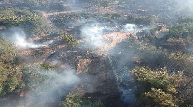 Çanakkale'deki korkutan yangın kontrol altına alındı