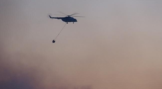 Gelibolu'daki orman yangınına havadan müdahale başladı