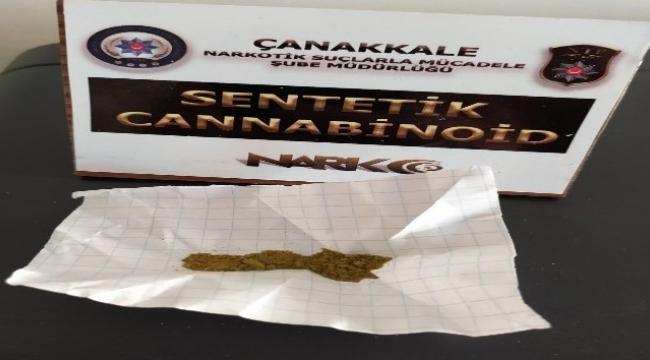 Çanakkale'de uyuşturucu operasyonu: 1 tutuklama