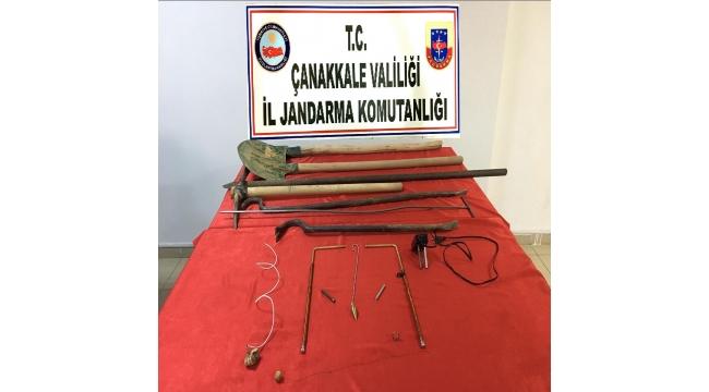 Biga'da izinsiz kazı yapan 3 şüpheli gözaltına alındı