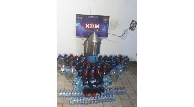Çanakkale'de 650 litre sahte içki ele geçirildi