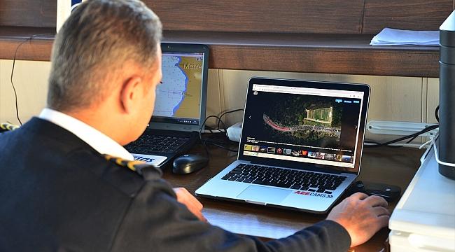 Çanakkale'de gemi kaptanları AA'nın fotoğrafları için oy kullandı