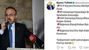 Bülent Turan, AK Parti'ye transfer olan ilk belediye başkanlarının isimlerini açıkladı