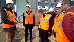 ÇOMÜ Rektörü Prof. Dr. Sedat Murat, 18 Mart İÇDAŞ Ulu Camii İnşaatında İncelemelerde Bulundu