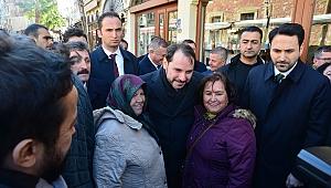 Hazine ve Maliye Bakanı Albayrak'tan Çanakkale'de esnaf ziyareti