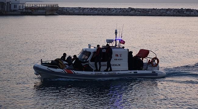 Ayvacık'ta 37 düzensiz göçmen yakalandı