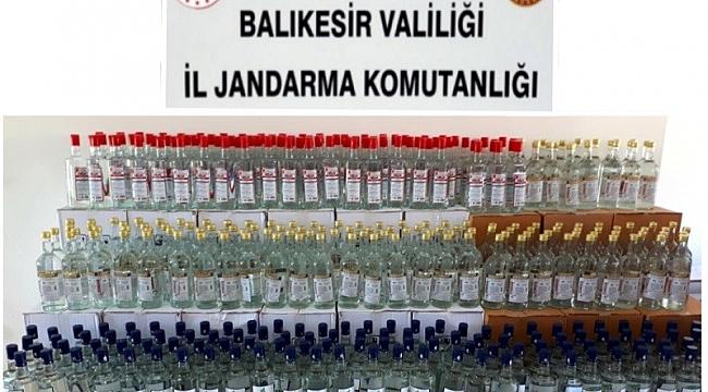 Balıkesir'de sahte içki imalatında kullanılan 2 bin 543 litre etil alkol ele geçirildi