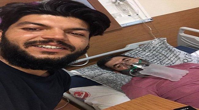 Hastanede yanından ayrılmayan oğlunun desteğiyle 17 günde sağlığına kavuştu