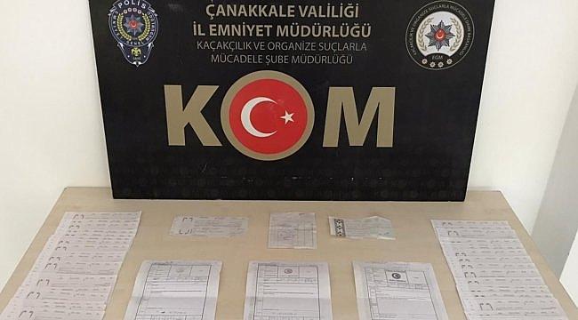 Biga'da tefecilik operasyonunda yakalanan 2 şüpheliden biri tutuklandı