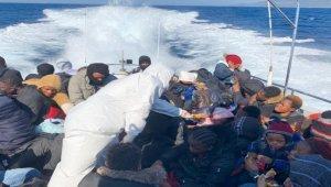 Çanakkale'de Türk kara sularına geri itilen sığınmacılar kurtarıldı