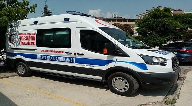 Kanserden ölen kadının vasiyeti üzerine ailesi hastaneye ambulans bağışladı
