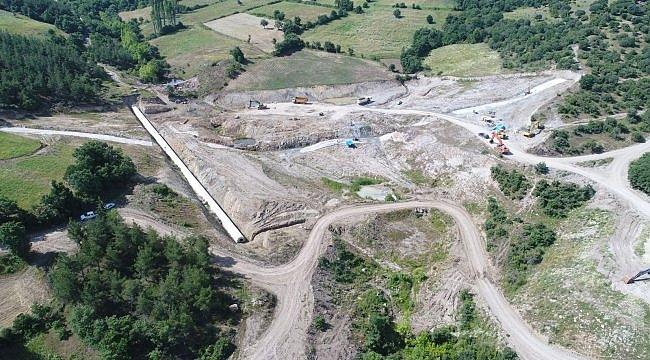 Yenice Kovancı Barajı'ndaki çalışmalar devam ediyor