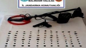 Balıkesir'deki tarihi eser kaçakçılığı operasyonunda 1 kişi yakalandı