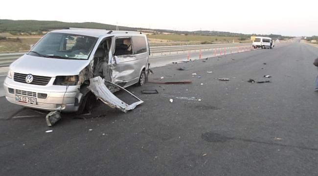 Gelibolu'da trafik kazası: 5 yaralı