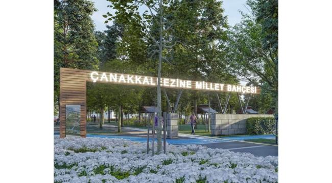 Bölgede bir ilk olacak: Ezine Millet Bahçesi ihaleye çıkıyor