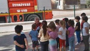 Gelibolu'da anaokulu öğrencilerine yangın eğitimi