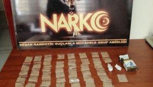 Keşan'da uyuşturucu operasyonunda gözaltına alınan zanlı tutuklandı