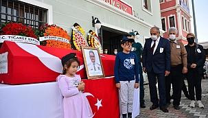 Çanakkale'de gemi kontrolünde ölen gümrük muhafaza memuru için tören yapıldı