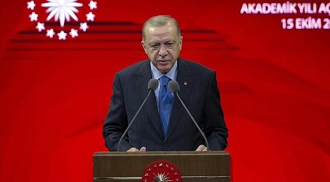 Cumhurbaşkanı Erdoğan: En kısa sürede yükseköğretimde de yüz yüze eğitim öğretimi başlatmayı hedefliyoruz